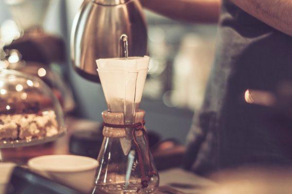 slider Bild Aufguss nachhaltiger Bio Kaffee